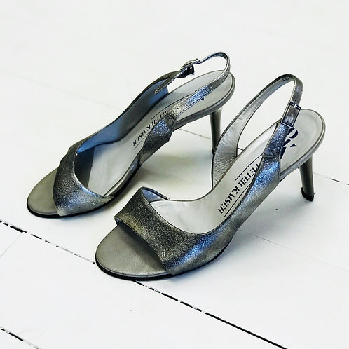 Peter Kaiser Silver Stilettos