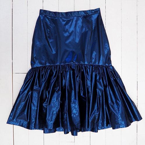 ANNAEVA Blue Shiny Skirt