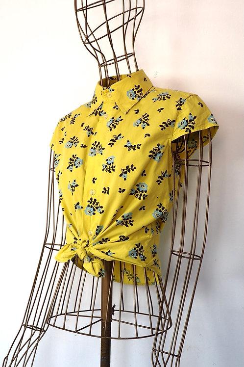 DIESEL Flower Yellow Shirt