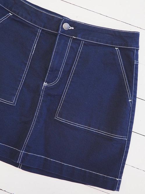 H&M Contrast Stitching Skirt