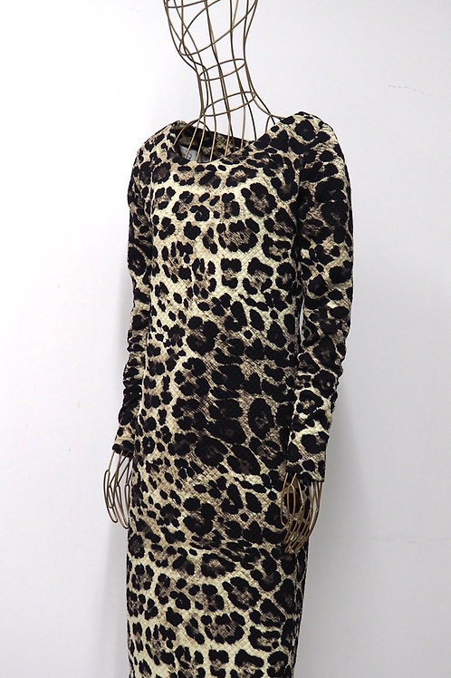 ZEE LANE Leopard Quilted Dress