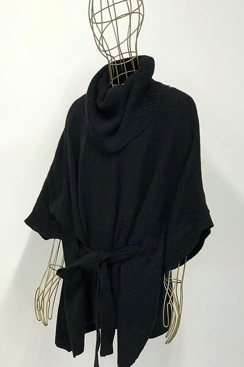 H&M Knitted Cape with Belt