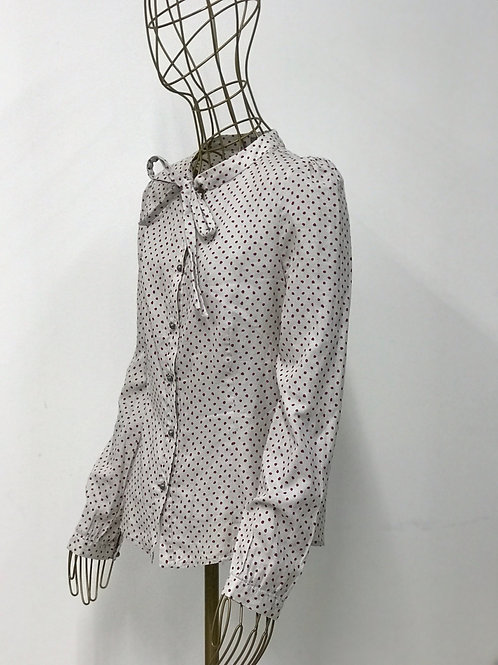 Dotted Shirt with Bow