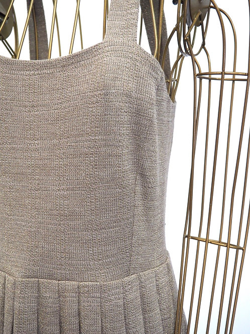 Pleated Woven Dress with Sparkle