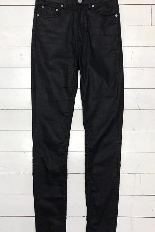 All Saints Black Waxed Jeans