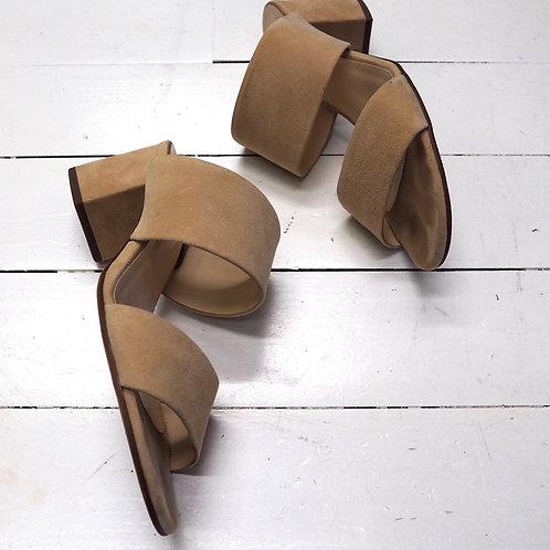 HÖGL Beige Nubuck Slippers