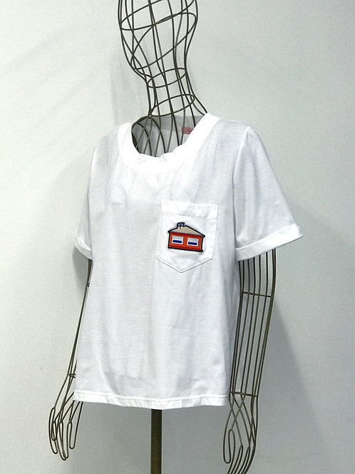 TOMCSÁNYI T-Shirt with House Broidery