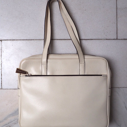 COCCINELLE Off White Leather Bag