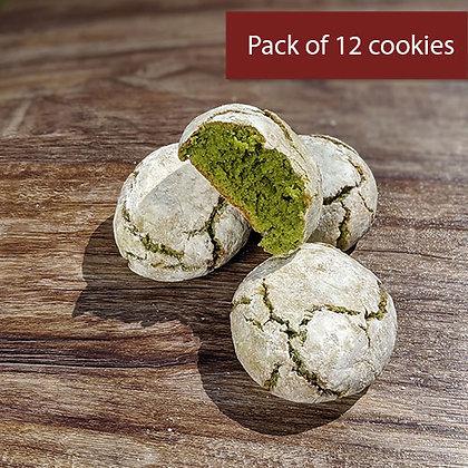 Matcha Amaretti (12 cookies)