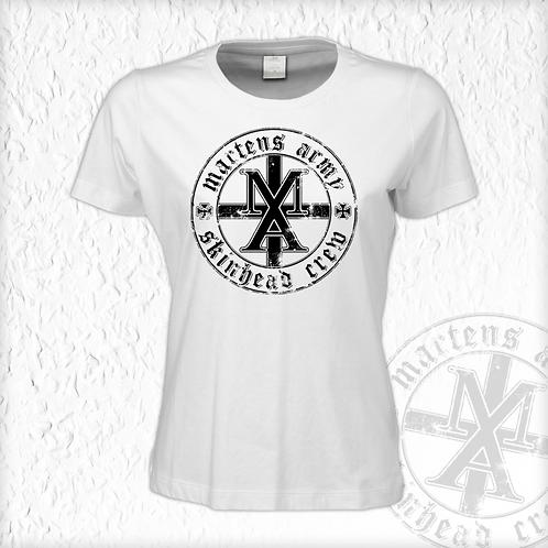 Martens Army - MASC, Girlie Shirt, weiss