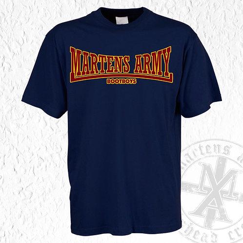 Martens Army - Lonsdale Style, T - Shirt, blau