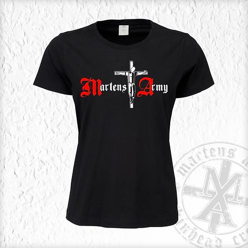 Martens Army - Logo, Girlie Shirt, schwarz