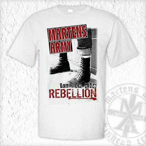 Martens Army - Rebellion, T - Shirt, weiss