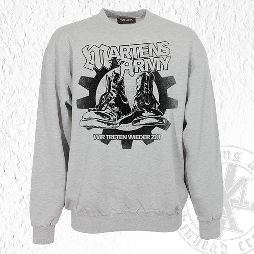 Martens Army - Pullover, Wir treten wieder zu, Grau