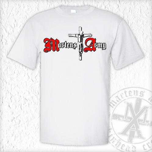 Martens Army - Logo, T-Shirt, weiss
