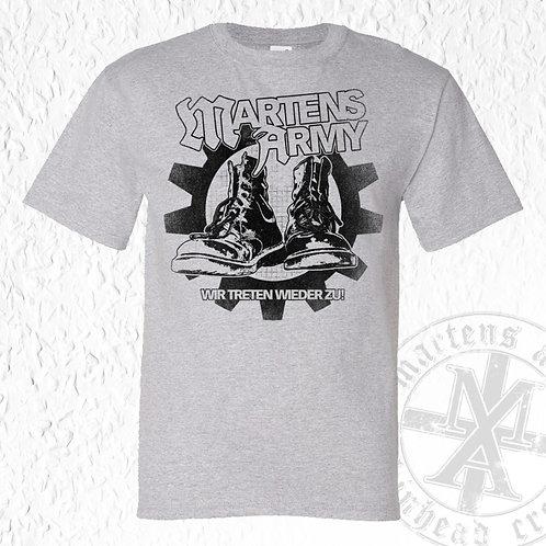 "Martens Army -  ""Wir treten wieder zu"" TS (grau/grün)"