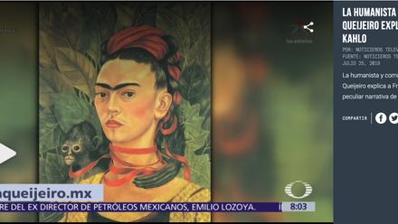 Elisa Queijeiro habla de Frida Kahlo con Paola Rojas