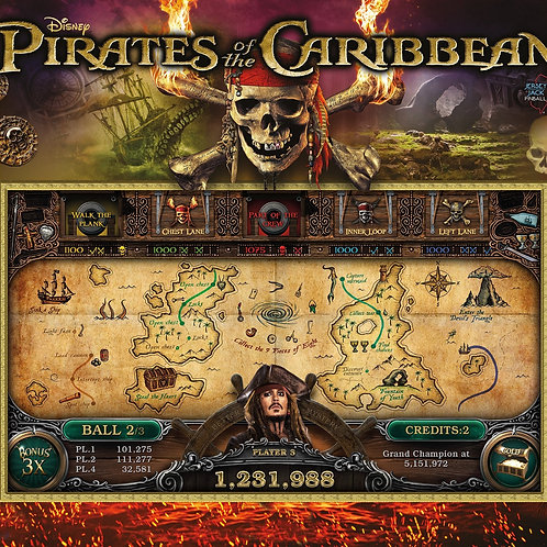 Pirates of the Caribbean (Limited Edition) by Jersey Jack Pinball 2018