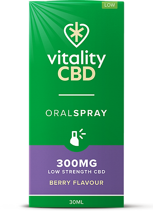 Vitality CBD Oral Spray Berry 300mg | 600mg | 1200mg