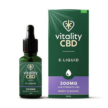 Vitality CBD Broad Spectrum Eliquid Berry 30ml 300mg | 600mg | 1