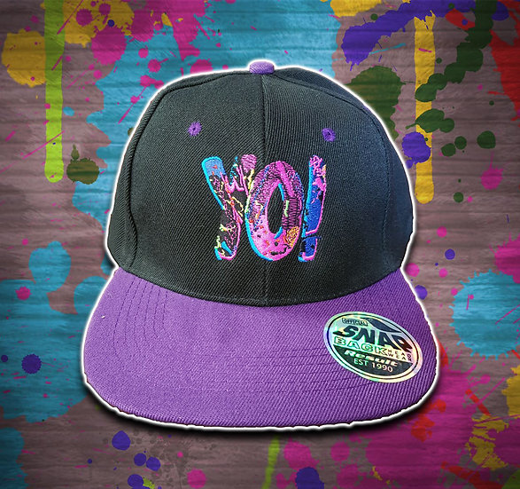 Yo! Snapback Black / Purple