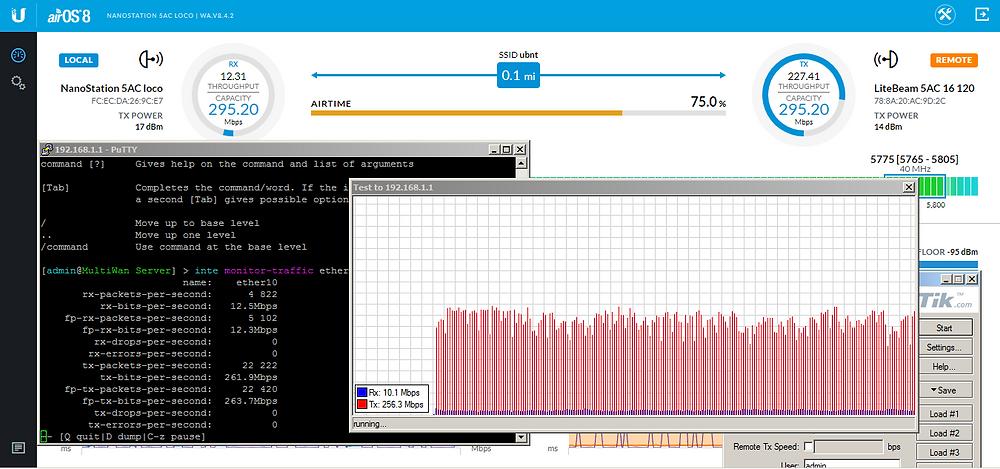 Cuanto puede traficar (pasar) un Nano Station loco ac en 40 mhz
