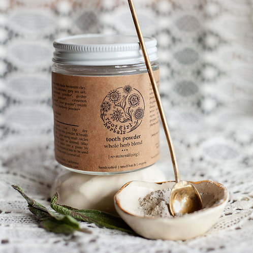 Herbal Tooth Powder || Remineralizing Whole Plant Blend