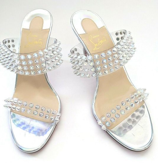 NEW Louboutin Spikes Only Heels sz 38 (US 8/8.5)