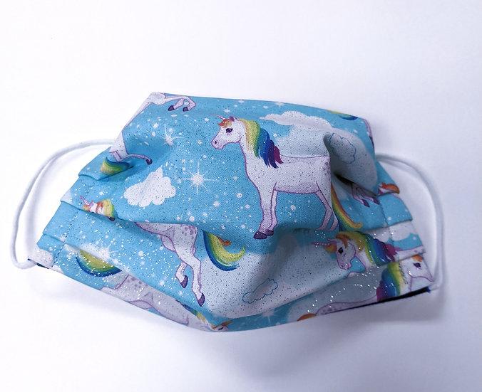 Unicorn 3 layer Cotton Reversible Washable Face Mask
