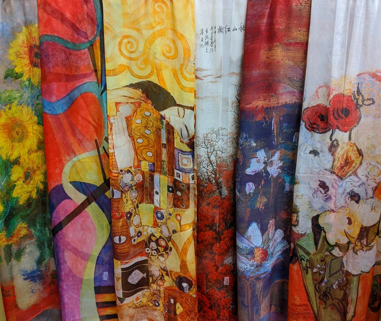 Artist Inspired Silk Scarves!