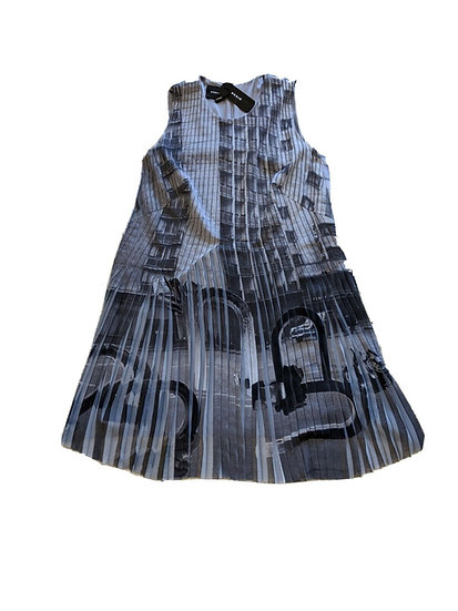 NEW Akris  Magnet Grey Dress  12/14 Ret $3990