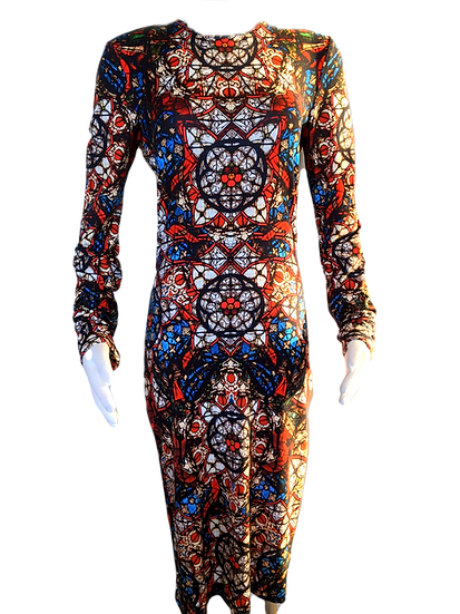 Alexander McQueen Stained Glass Dress IT 44 US 8