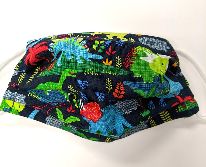 DINO-GO! 3 layer Cotton Reversible Washable Face Mask