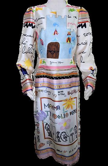Dolce & Gabbana Mamma Silk Dress size IT 46 US 8/10
