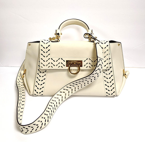 Ferragamo Cutout Leather Purse