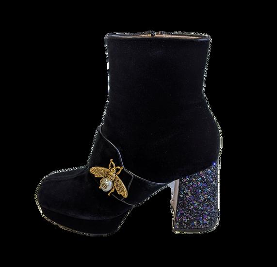 Gucci Soko Velvet Boots IT 38.5 US 8/8.5