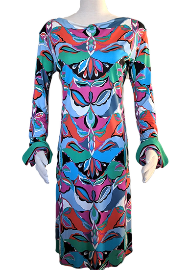 Vibrant Emilio Pucci Archivio Print Dress Size 6