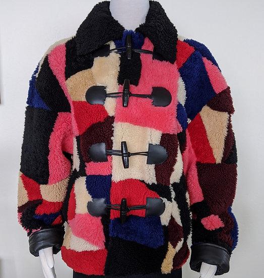 McQ Alexander Mcqueen Patchwork Shearling Jacket