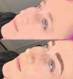 My dream brows 😍 Immediately after clie