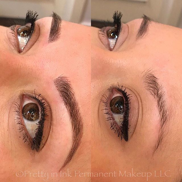 After 1st session (only microblading) 🖤