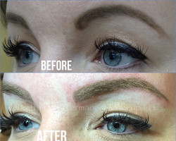 Natural Stroke and Powdered Brows