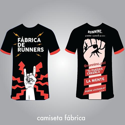Camiseta fabrica de runners Negra
