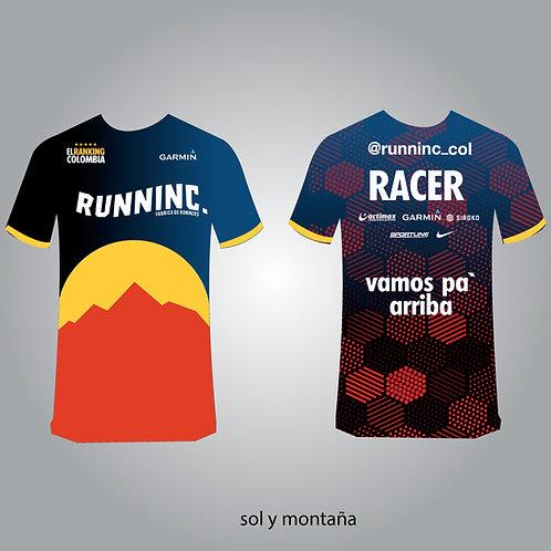 Camisetas Sol y Montaña Runninc