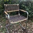 chaise assise osier brut