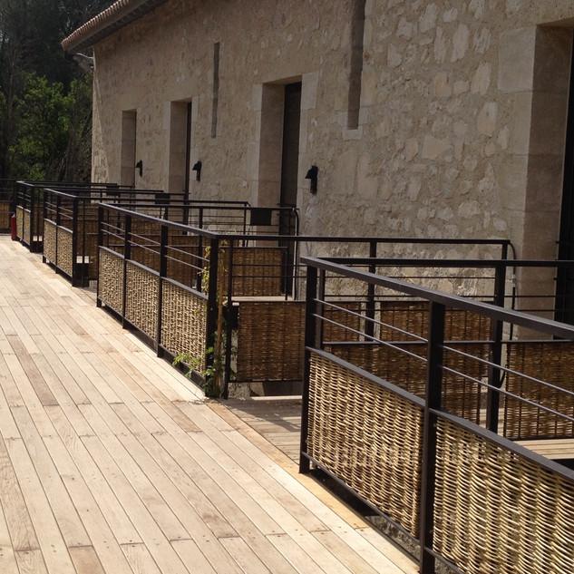 Garde-corps réalisés pour le domaine de Manville aux Baux de Provence