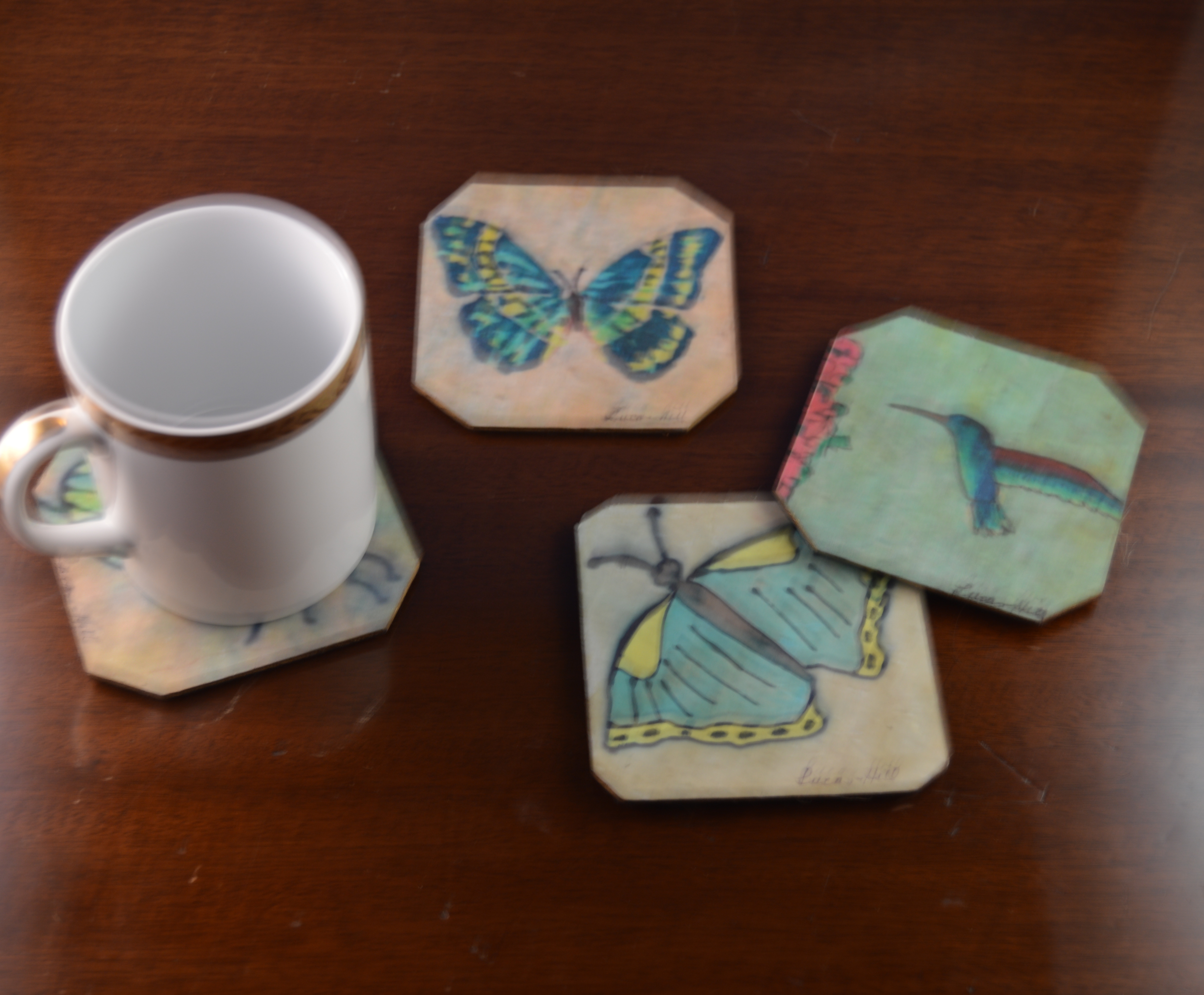 Decor Silk Coasters