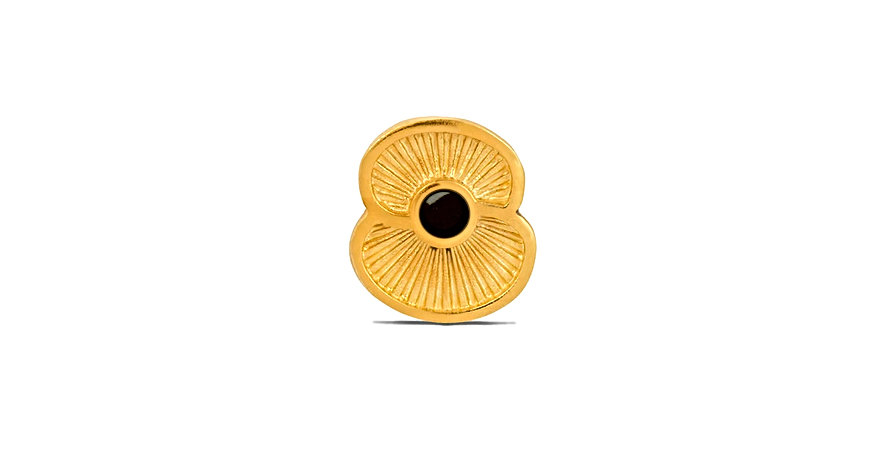 The Royal British Legion Gold Poppy Pin