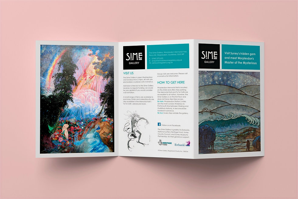 Sime Gallery A5 leaflet design