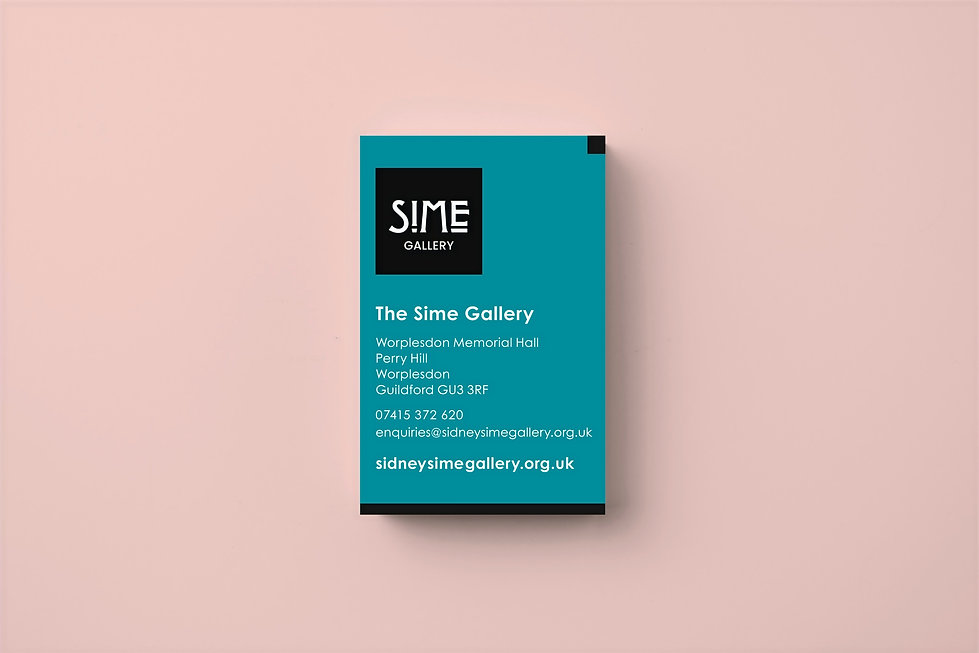 Sime Gallery Business Card