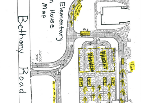 Drive-Thru Open House Map for our Bethany Families